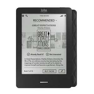 "Kobo Touch N905-KBO-B eReaders 6"" E Ink Touchscreen 1GB WiFi Black refub whsmith eBay - £29.99"
