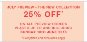 25% off next preview