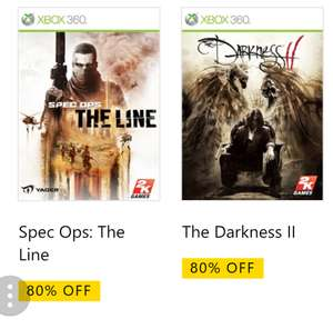 Xb1 (bc) spec ops the line £3.99, darkness 2 £4.99 @ Xbox Store