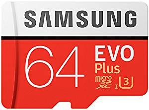 Samsung EVO Plus Micro SDXC 64GB £14.94 Prime £17.93 Non Prime from Amazon