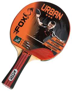 Fox TT Unisex Urban 3 Star Table Tennis Bat, Red @ Amazon - £5.92 Prime / £9.87