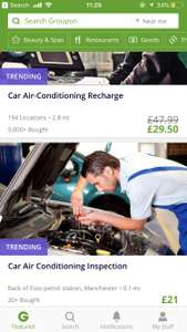 Car Air Conditioning Inspection and Service with Re-Gas at KP MOT Centre £21 @ Groupon (New customers only)