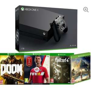 Xbox One X 1TB - Fifa 18 / Fallout 4 / Assassins Creed Origins / Doom £429.99 @ Currys