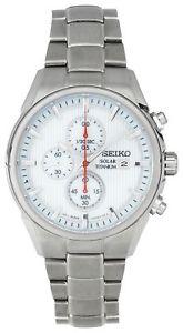 Seiko Men's White Dial Solar Powered Chrono Bracelet Watch £79.99 eBay (Argos)