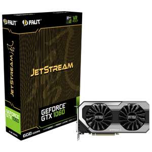 GEFORCE GTX 1060 JETSTREAM RGB 6144MB GDDR5 PCI-EXPRESS GRAPHICS CARD at Overclockers for £239.89 delivered