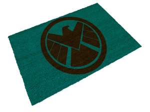 Free Marvel Doormat with Marvel Avengers Assemble Shield Badge T-Shirt £15.98 delivered w/code at Zavvi