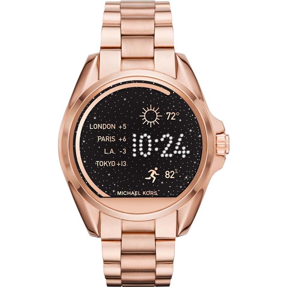 Michael Kors Bradshaw Ladies Rose Gold Smart Watch MKT5004 £157.52 with code @ Watches2u