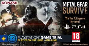 Metal Gear Survive try full game free for limited time for PS+ Members