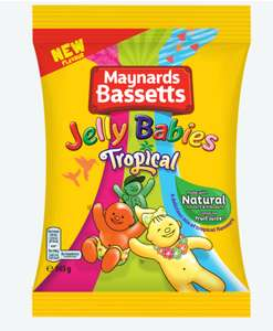 Jelly Babies Tropical Fruit Flavour 165g bags 2 for £1 Heron Frozen Foods