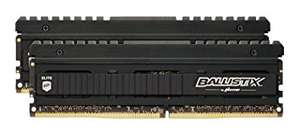 Crucial Ballistix Elite 16 GB (2 x 8GB) DDR4-3000 Memory Kit - Black £140 @ Amazon UK