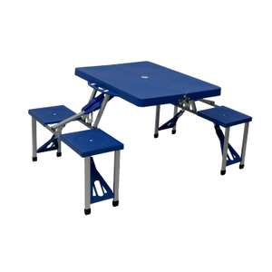 Portable Folding Outdoor Picnic Table and Bench Set 4 Seats - £29.99 delivered @ OYPLA