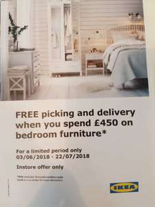 FREE PICK AND DELIVERY SERVICE ON BEDROOM FURNITURE OVER £450 @IKEA SOUTHAMPTON