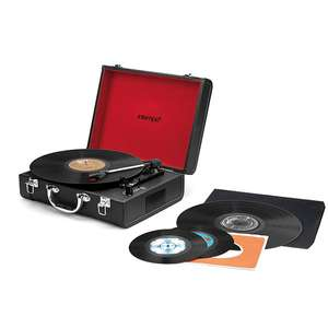 3 speed turntable in case with rechargeable battery and Bluetooth £11 delivered @ ideal world tv