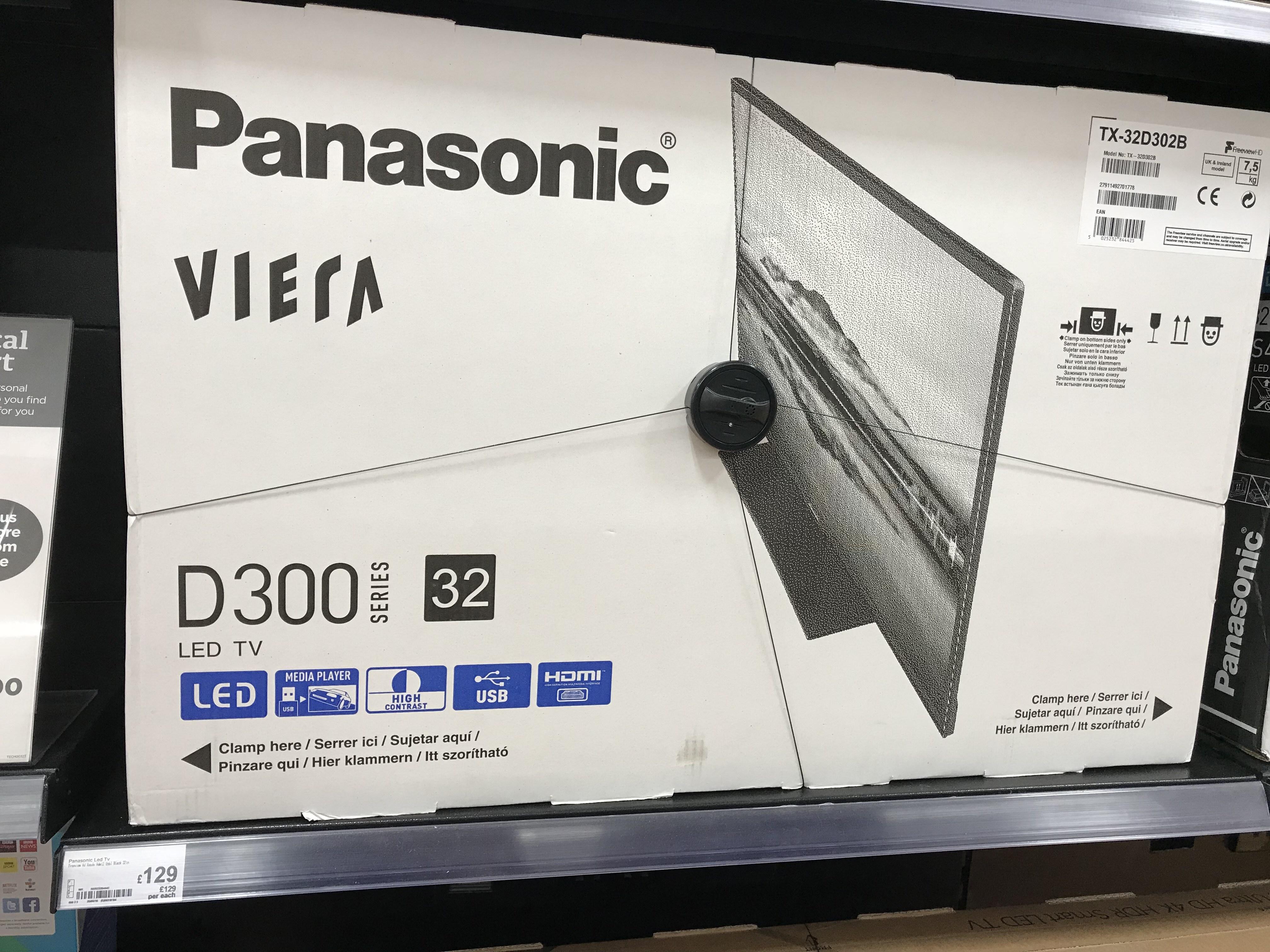 "Panasonic Viera Tv 32"" TX-32D302B £129 @ Asda Pudsey, Leeds"