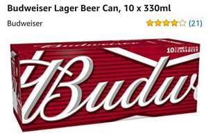 £4.25 for Budweiser Lager Beer Can, 10 x 330mlAt amazon fresh (only available at certain postcode)