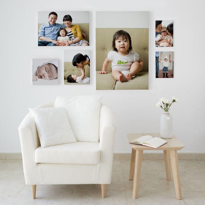 A 20cm x 30cm canvas delivered for £9.09 @ Vistaprint