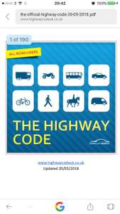 FREE The Highway Code eBook, applies to England, Scotland and Wales, 2018, PDF.