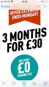 FINAL DAY! PureGym 3 months membership for £30 and NO JOINING FEE. (£10p/m)!