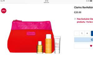 Clarins Revitalising Heroes on clearance - £20 @ Boots