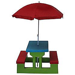 Kids Resin Picnic Bench & Parasol now £16 C+C @ Tesco Direct
