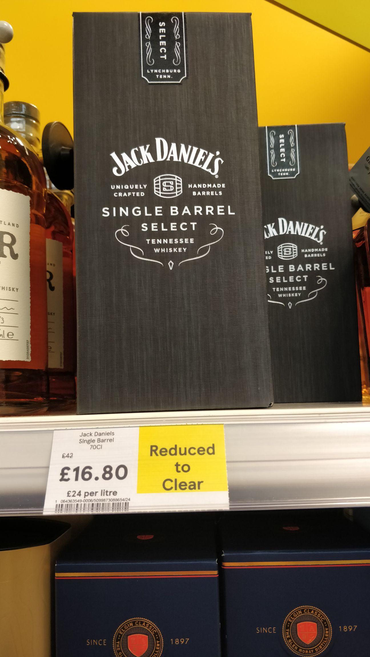 Jack Daniels Single Barrel 70cl Reduced to Clear £16.80 instore @ Tesco Carrickfergus