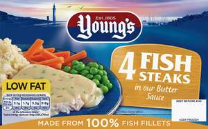 Young's 4 fish steaks in butter sauce £1.99 @ Farmfoods
