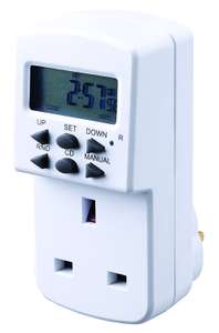 Masterplug TES7 7 Day Electronic Timer - White for £1.97 (Prime) £6.46 (Non Prime) @ A mazon