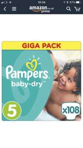 4 x 108 pack of Pampers size 5 works out to 6p each - £25.86 @ Sold by Micronutrients Ltd. and Fulfilled by Amazon