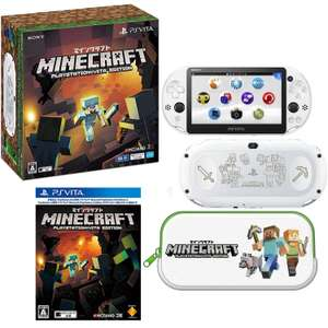 PS Vita Console (White) + Minecraft + Pouch + Screen Protector - £141.59 New @ Amazon Japan (inc. Del & Fees)