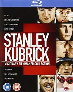 £10 Off! 8 Blu-ray Stanley Kubrick: Visionary Filmmaker Collection [Blu-ray] [1962] [Region Free] - £14.99 (Prime) £17.98 (Non Prime)