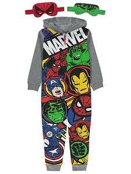 Marvel Comics Superheroes age 4-5 yrs onesie & 2 eye masks £6 @ Asda C+C