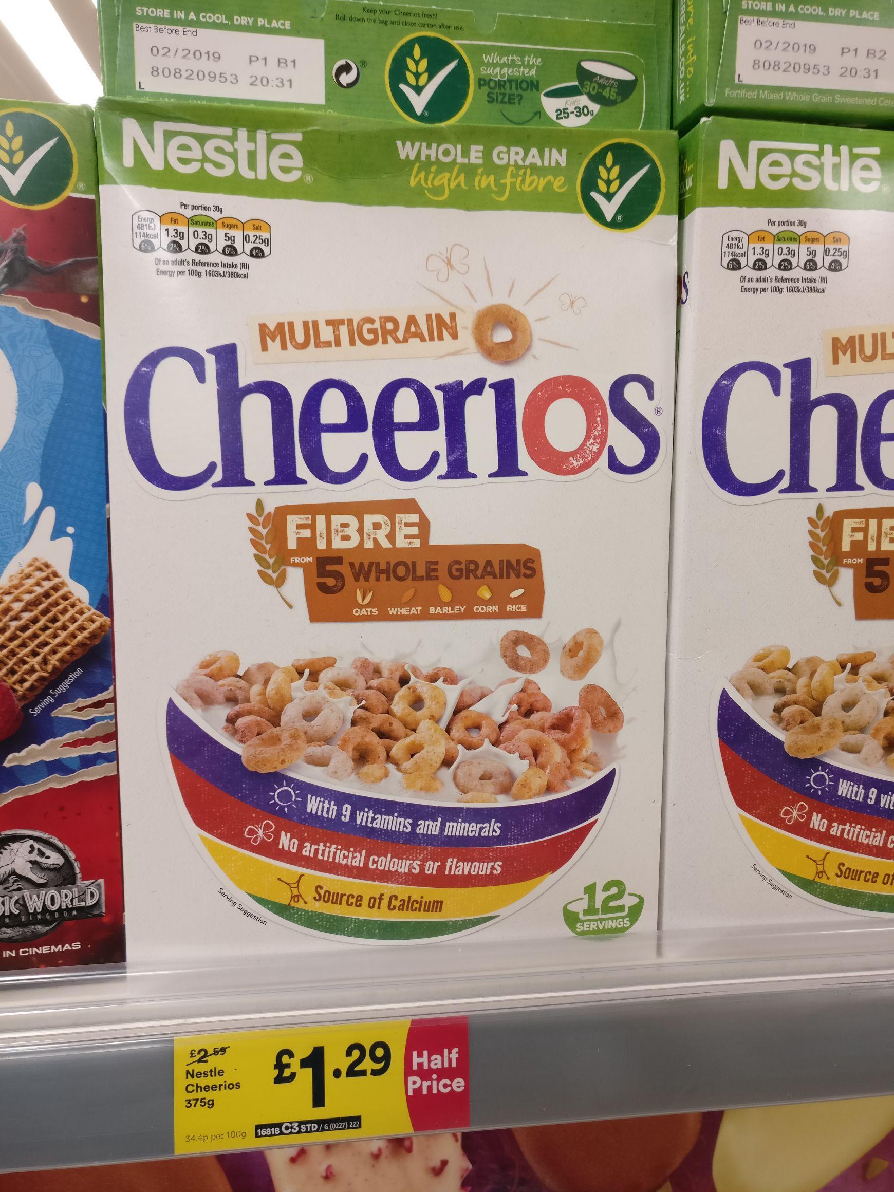 Nestle cheerios - £1.29 instore @ Iceland