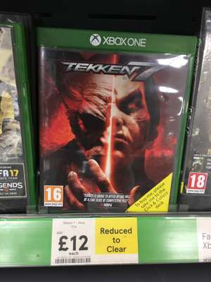 Tekken 7 XBOX ONE- Reduced to Clear! Tesco (Barry) - £12
