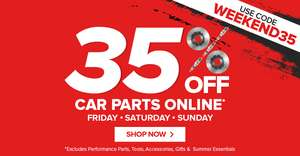 Eurocarparts 35% off this weekend