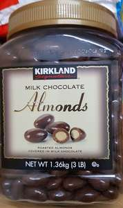 1.36kg Milk Chocolate covered Almonds RTC @ Costco Farnborough (£3.47 plus VAT)