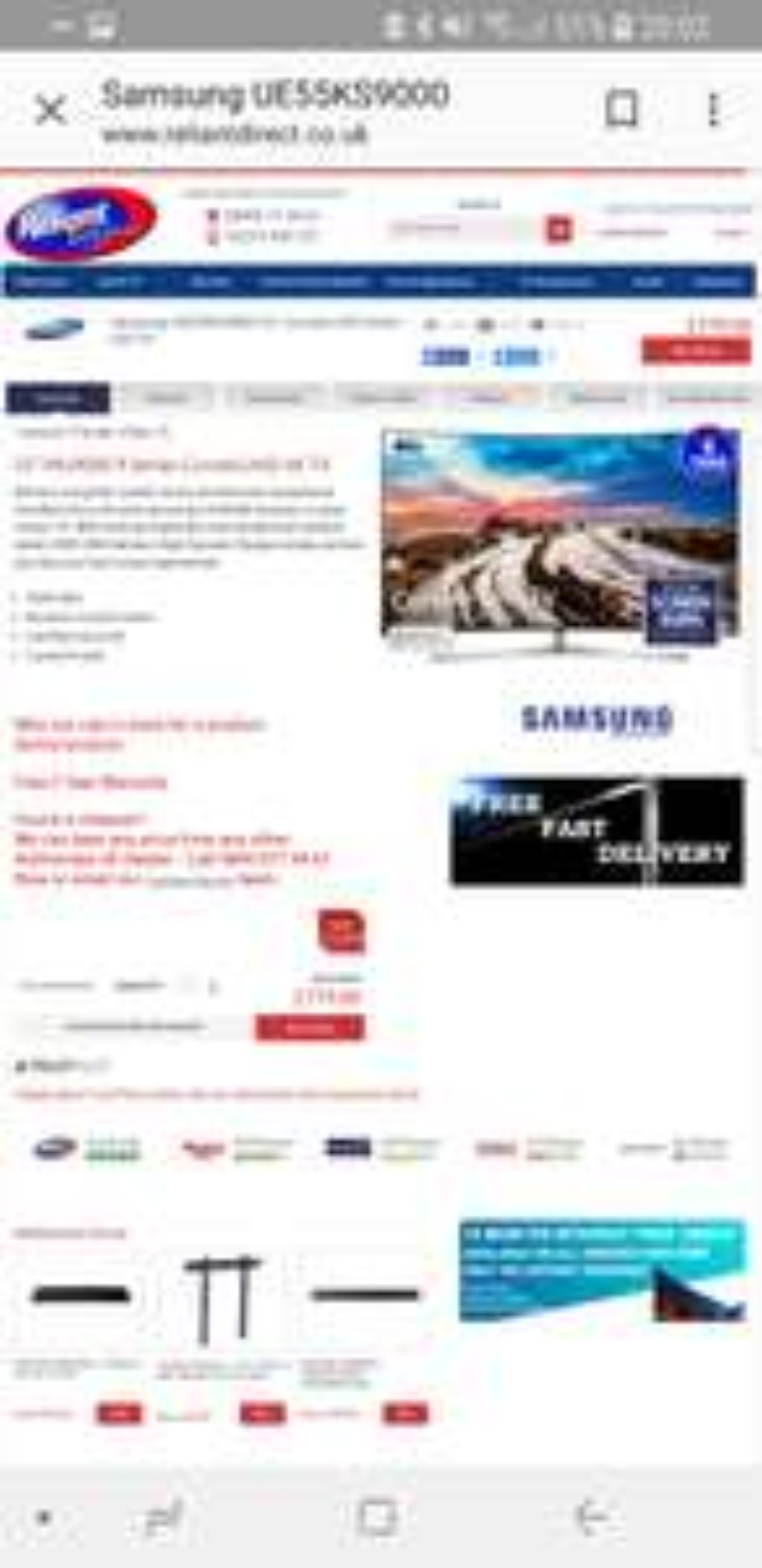 Samsung mu9000 55 inch - £779 @ Reliantdirect