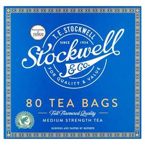 Stockwell & Co Tea Bags x 80 For Only 50p @ Tesco
