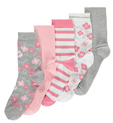 X5 ankle socks size 4-8 now £3 @ Asda C+C