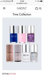 Nails inc reductions e.g Time Collection set 12 - Free delivery when you join member VIP