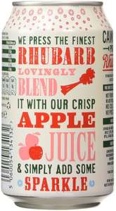 Cawston Press Sparkling Rhubarb Juice Can 330 ml (Pack of 12) £6.36 Prime / £11.35 Non Prime @ Amazon