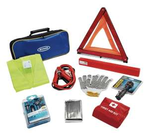 Ring RCT2 emergency car / travel kit including first aid kit and jump leads now £9.99 delivered @ eBay sold by Argos