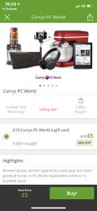 Spend £5 get a £10 Voucher in return @ Currys pc world via Groupon - Invite only