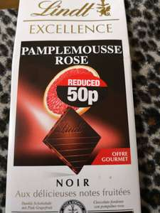 Lindt Excellence Pamplemousse Rose Flavour reduced to 50p @ Poundland Instore