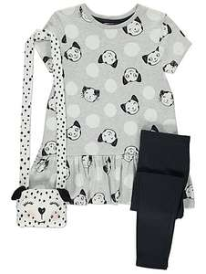 3 piece set, dalmation print dress + leggings + bag £5 @ Asda C+C