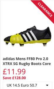 Adidas Mens FF80 Pro 2.0 XTRX SG Rugby Boots size 14.5 & 15 - £11.99 / £16.48 delivered @ M&M Direct