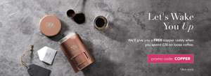 Free copper caddy when you spend £20 on loose coffee with code @ Whittard