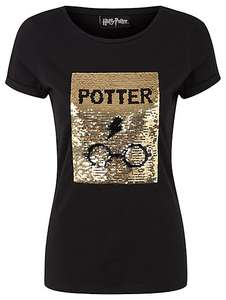Harry Potter silver\ gold swipe sequin top sizes 14-20 now £5 @ Asda C+C