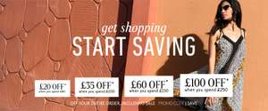 £20 off £60 / £35 off £100 / £60 off £100 &  £100 off £250 Spend on Womens Mens Kids & Home includes Sale with Code @ La Redoute