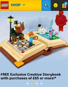 FREE LEGO Creative Storybook 40291 when you spend £65 @ Lego Shop