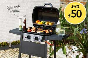 2 burner gas BBQ with great reviews was £70 now £50 free click and collect @ Wilko